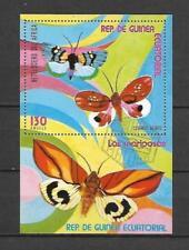 Francobolli a tema insetti e farfalle da Guinea Equatoriale