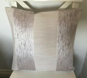"""LUXURY PALE SILVERY  LILAC TEXTURED STRIPE DOUBLE SIDED 16"""" X 16"""" CUSHION COVER"""