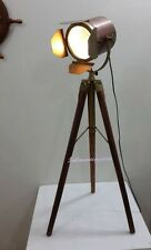 MARINE SPOT LIGHT TRIPOD LAMP NAUTICAL SEARCH LIGHT TABLE LAMP HOME DECORE