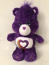 35Th Anniversary Rainbow Heart Care Bear Plush 2017 Limited Edition Purple