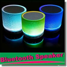 Mini Bluetooth Wireless Speaker Colorful LED Build-in Mic USB/AUX/TF/SD Card
