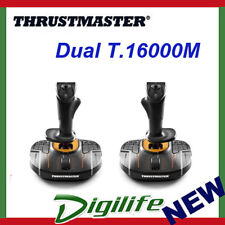 Thrustmaster Dual T.16000M FCS Joystick Space Sim Pack PC USB Gaming Controllers