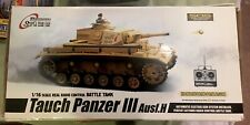 1:16 TAUCH PANZER III RC TANK CIB SMOKE -SOUND-AIRSOFT-USED ONCE-GREAT CONDITION