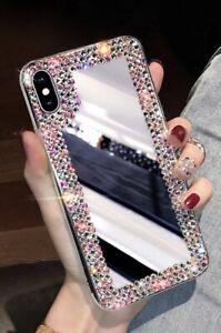 Bling Diamond Jewel Mirror Black Case For iPhone X/XS, XR, PRO-MAX,XS-MAX,11-PRO