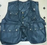 New Falconry and Hunting Waistcoat, Full Vest Black, (All Sizes) Fully Adjust