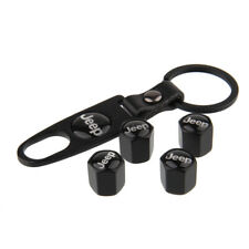 Car Tire Valve Dust Stem Air Cap Cover For JEEP Compass Cherokee Keychain 5PCS