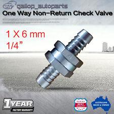 "6mm 1/4"" Aluminium One Way Non-Return Check Valve Fuel Line Petrol Veg Oil"