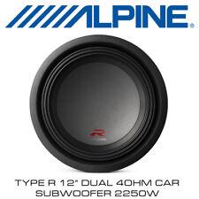 """Alpine R-W12D4 - Type R 12"""" Dual 4Ohm Car Subwoofer 2250W BNIB"""