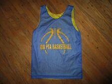 Ida Basketball Jersey Reversible Blue Yellow Pta A4 Michigan Youth Medium