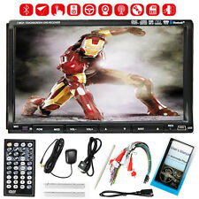"Free Camera+GPS 7"" Double 2 Din Car Stereo Radio DVD CD Player Bluetooth iPod"