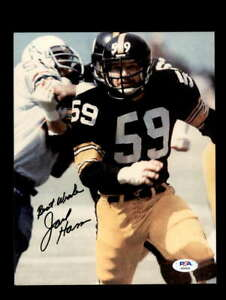 Jack Ham PSA DNA Signed Pittsburgh Steelers 8x10 Autograph Photo