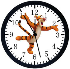 Tigger Winnie The Pooh Black Frame Wall Clock Nice For Decor or Gifts E130