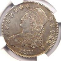 1831 Capped Bust Half Dollar 50C O-104 - NGC AU Details - Rare Certified Coin!