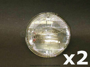 BMW E12 E24 E28 E30 Sealed Beam Headlight (Halogen) High Beam (5 3/4 Inch) OEM