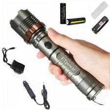 1800LM 5 Modes CREE XM-L T6 LED Zoomable Tactical Flashlight 2 x 18650 Battery