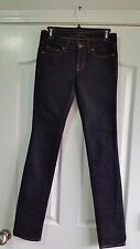 J Brand Jeans. Pencil Leg in Jett Wash. Low Rise. Stretch. Black. Size 25
