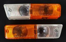 FRONT INDICATOR PARK LIGHT LENSES 2PC FIT DATSUN 1600 510 NISSAN BLUEBIRD 68-70