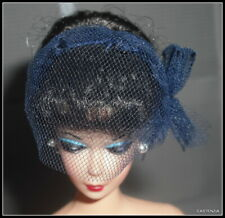 HAT BARBIE DOLL VINTAGE REPRODUCTION GAY PARISIENNE BLUE VEILED HAT ACCESSORY