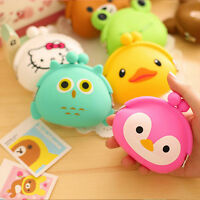 Cute Womens Girls Silicone Animal Small Mini Wallet Key Coin Purse Pouch Holder