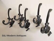 DOPPIO Appendiabiti Ferro Antico Modern Vintage Nero Grigio Cappello Rack Addison Set 5