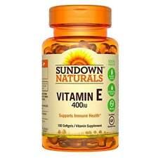 Sundown Naturals Vitamin E 400 IU Softgels 100 EA