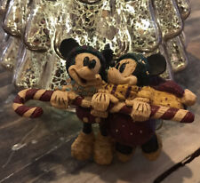 Disney Mickey & Minnie Mouse Candy Cane Hang Gliding Christmas Tree Ornament