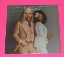 LEON RUSSEL R.I.P. SIGNED AUTOGRAPHED WEDDING ALBUM  VINYL LP  *PROOF*