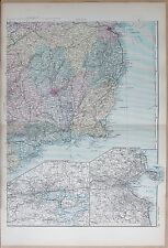1891 LARGE VICTORIAN MAP - IRELAND SOUTH EAST ENVIRONS OF CORK AND DUBLIN