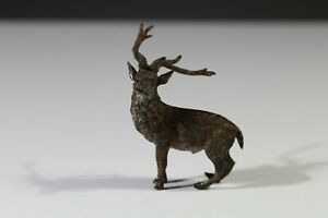 Vienna Style cold painted bronze Stag miniature