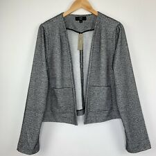 NWT J. Crew Boucle Blazer Size Large Open Jacket