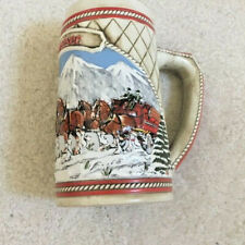 """Budweiser Clydsdales """"A"""" Series Beer Stein 1985 - Excellent Condition!"""