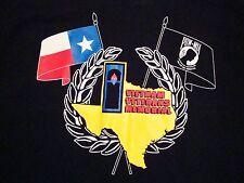 Vintage Vietnam Veterans Memorial Texas POW MIA Military Army T Shirt L