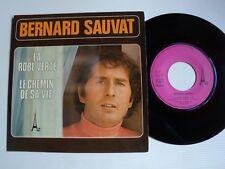 """Bernard Sauvat: La Green Dress / le Runner - Sa Vie 7 """" 45T Az Sg 413 Hervé Roy"""