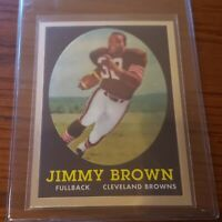 2010 TOPPS CHROME 1958 JIM BROWN CLEVELAND BROWNS #62