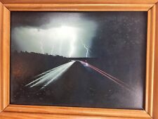 Jim Becia Lightning On Interstate 90 North Dakota Photography Spirit Light Frame