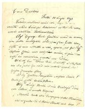 Testamento Autografo Sig Soldani Bensi Ritratto Olio Antonio Ciseri 1893 Firenze