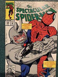 "Spectacular Spiderman #190 Marvel Stan Lee Signed Autograph COMIC ""RHINO"" W/COA"