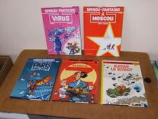 5 Albums bande dessinée BD (dont 3 E.O) SPIROU ET FANTASIO 33, 42, 47, 50, HS 2