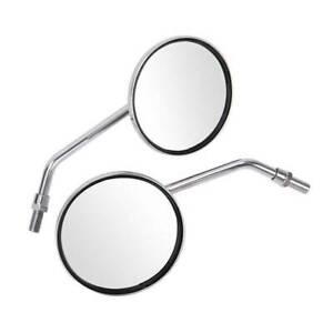 Coppia il giro Specchietti Retrovisori Specchi Moto Custom Cromati Grandi M10