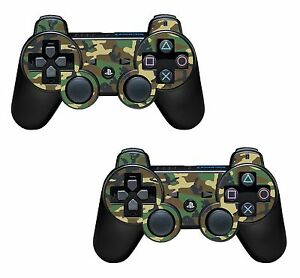 2x Army camouflage Playstation 3 (PS3) Controller Sticker / Skin / 3ps7