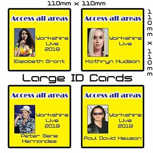 Large Custom Photo ID Card with Lanyard | 114 x 114mm