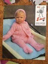 Knitting Patterns.baby.coat.leggings.hat.mittens.size 20-21inch Chest.DK.Emu.