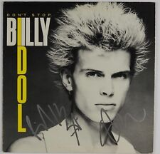 Billy Idol Steve Stevens JSA Signed Autograph Record Album Don't Stop