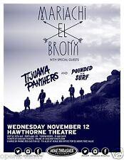 MARIACHI EL BRONX / TIJUANA PANTHERS 2014 PORTLAND CONCERT TOUR POSTER