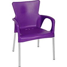 Stuhl Stapelstuhl Bistrostuhl Cafe Gartenstuhl 4er Set lila Kunststoff stapelbar