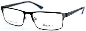HACKETT LONDON HEK1159 02 Black Rectangular Mens Eyeglasses 58-17-150