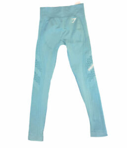 gymshark leggings seamless laser cut out blue small womens S