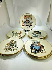 12 Vintage Saturday Night Evening Post Norman Rockwell Classic Plates By Gorham