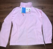 New Columbia Womens Pink Breast Cancer Fleece Jacket NWT - Large L Full Zip