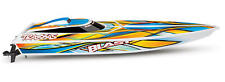 Traxxas Blast Rc Boat With orig box (Orange In Water Once), Model (#TRA38104-1)